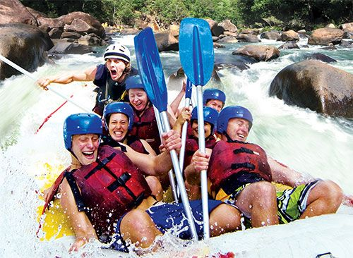 Tackle the Tully River on your visit to North Queensland, available in packages with Skydive Australia. #SkydiveAustralia #bucketlist #summer #escape #holidays #travel #ideas #Australia