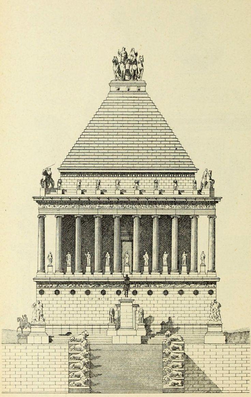 Hypothetical reconstruction of the Mausoleum of Halicarnassus
