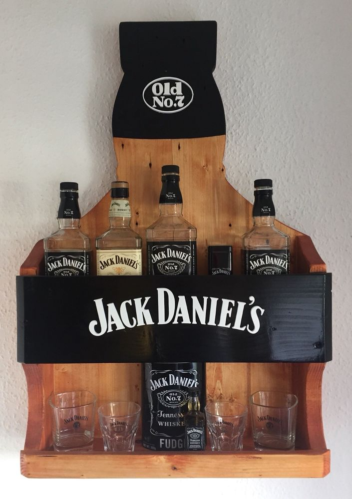 Handmade Jack Daniels Bottle Rack Shelf