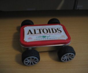 Rubber Band Powered Altoids Tin Car Clockwork And Wind