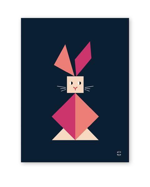 TANGRAM poster - Rabbit