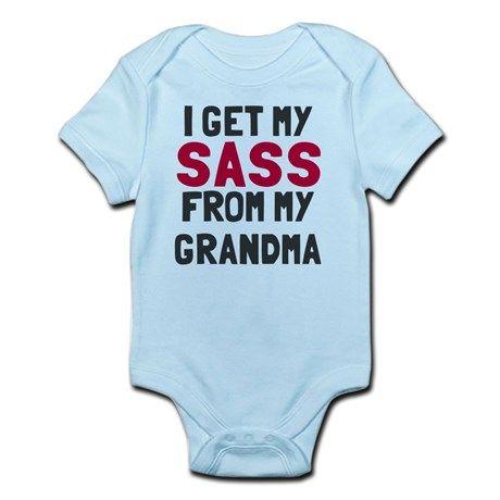 Sass from my grandma Onesie on CafePress.com