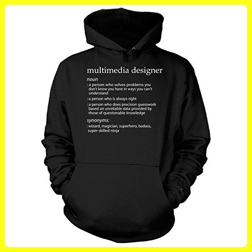 Multimedia Designer Profession Meaning Funny Gift - Hoodie Black 3XL
