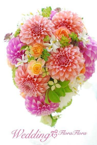3.4月の季節の生花を使ったブーケ❤︎あたたかい色味の種類を集めて華やかに❤︎ もっと見る