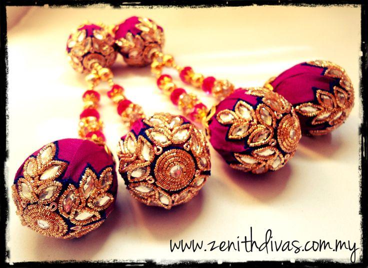 Large Fancy Latkan / Tassel for your lengha. Handcrafted by www.zenithdivas.com.my