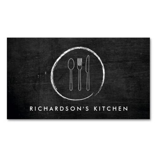 201 best restaurant business cards images on pinterest business fork spoon knife sketch logo for catering chef business card colourmoves