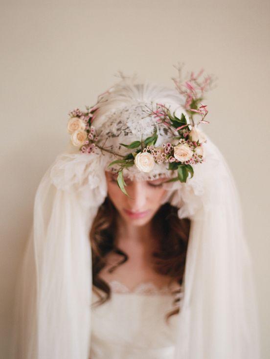 pure gorgeous: Wedding Hair, Bridal, Flower Crowns, Veils, Wedding Ideas, Flowercrown, Bride, Floral Crowns