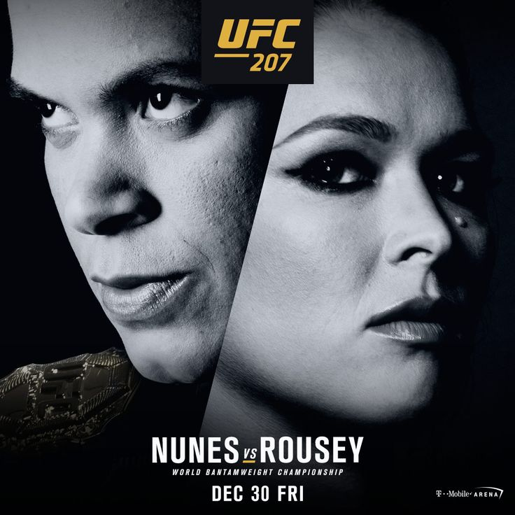 Ronda Rousey faces off Amanda Nunes in the main event of #UFC207 on December 31, 2016 at the T-Mobile Arena in Las Vegas, NV, USA.