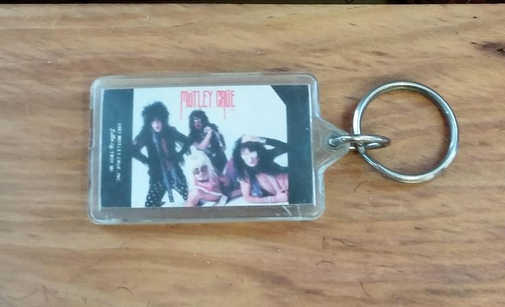 Vintage Motley Crue Keychain 80's Rock n Roll Collectible Button Up Hair Metal Band Swag Tommy Lee Nikki Sixx Mick Mars Vince Neil by OffbeatAvenue on Etsy