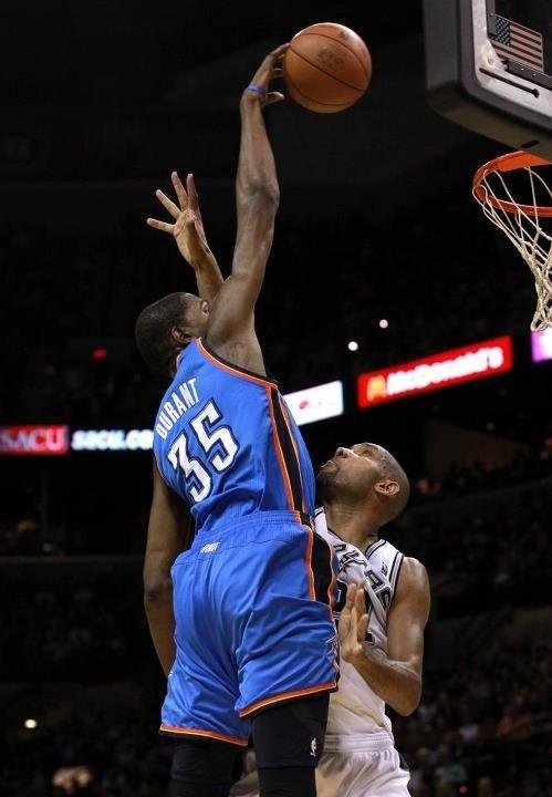 Kevin Durant over Tim Duncan, Oklahoma City Thunder