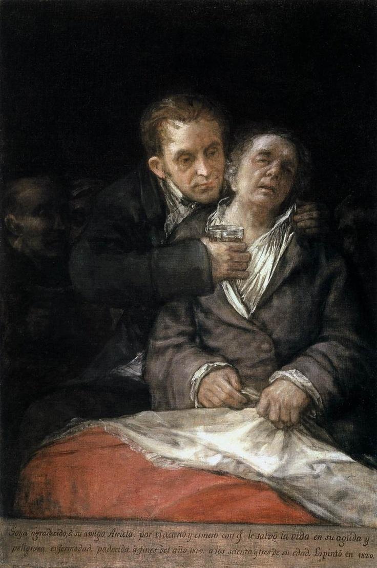 Francisco Goya - Self-Portrait with Doctor Arrieta