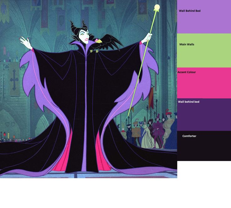 Maleficent Inspired Color Scheme Interior Decorating