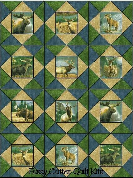 47 best Real tree fabric images on Pinterest | Tables, Dreams and ... : wildlife quilt fabric - Adamdwight.com