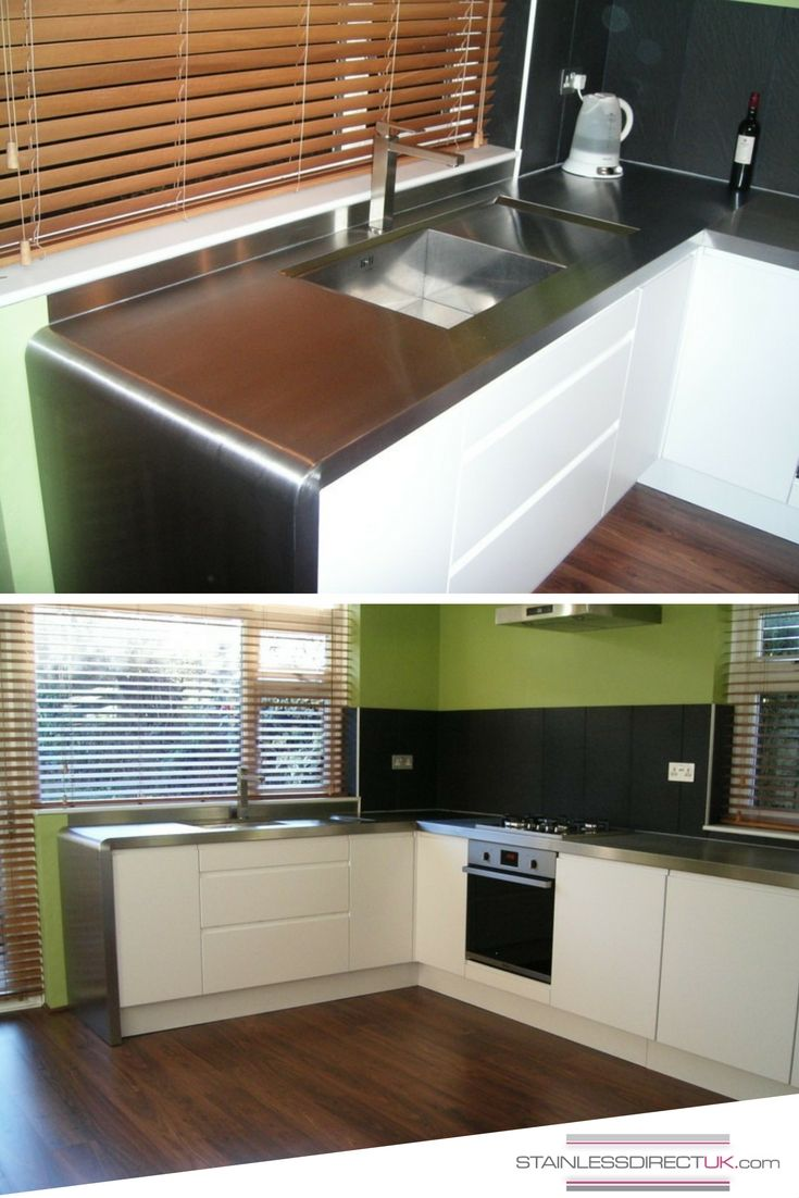 Stainless steel kitchen work surfaces - That Is One Made To Measure Kitchen Worktop For Corners On Our Stainless