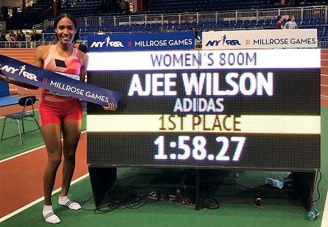RunnersWeb  (RRW) Athletics: Wilson Sets American Indoor 800m Record At NYRR Millrose Games