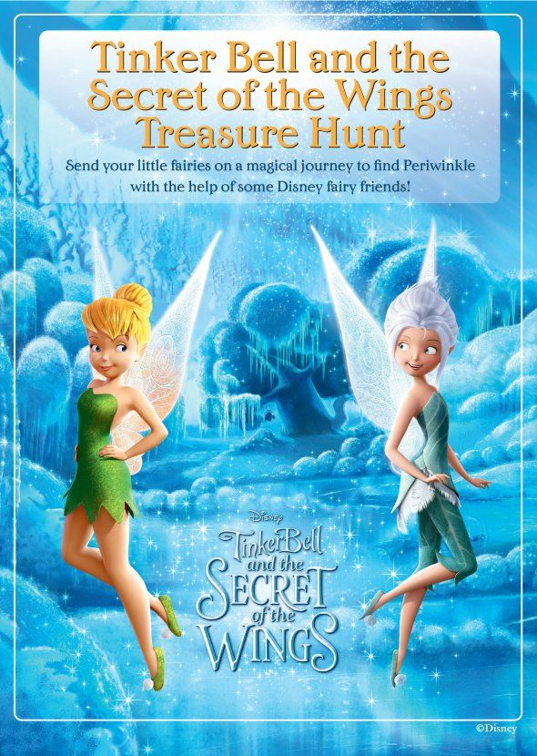 Printable Tinkerbell Treasure Hunt game for kids!