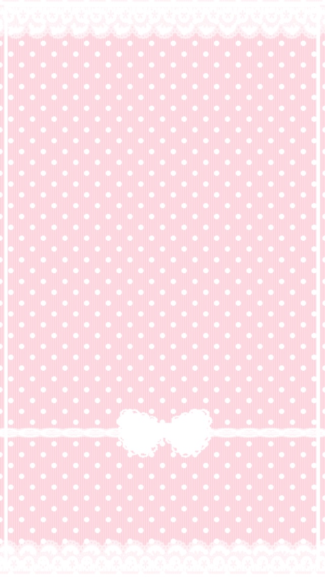 Printable - Pink with White Hearts