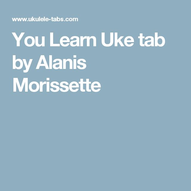 You Learn - Alanis Morissette (aula de violão) - YouTube