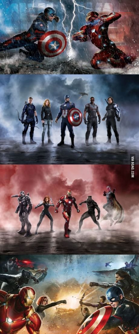 *Spoiler* Captain America and Iron Man's Civil War Teams Revealed<<< Look at the little Ant Man on Hawkeye's shoulder!