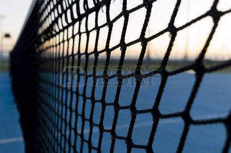 a tennis net recovery from an unusual perspective