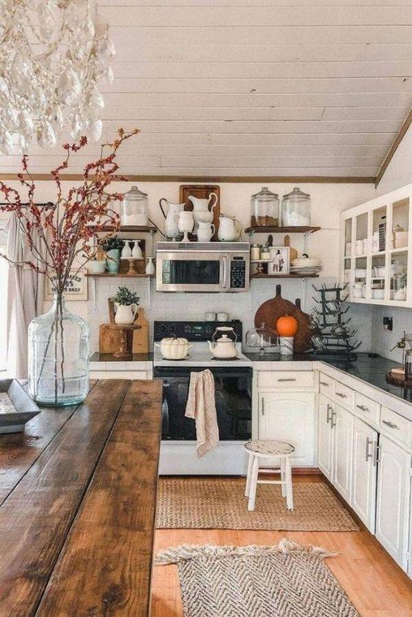boho farmhouse kitchen on 37 Farmhouse Kitchen Design Ideas With Bohemian Vibes Home Design And Interior Home Decor Kitchen Rustic Farmhouse Kitchen Rustic Kitchen
