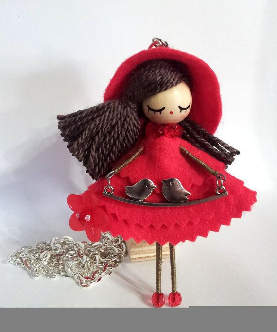 Necklace  jewelry doll by Delafelicidad on Etsy