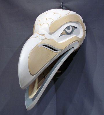 "White Raven Mask (2012) - 9""x8""x23""x2"" - Greg Henderson (Kawkwaka'wakw)"