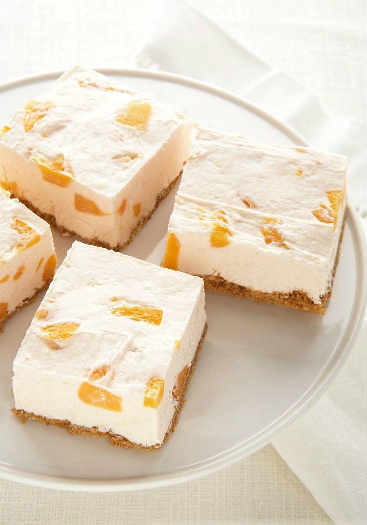 PHILADELPHIA Peaches 'N Cream No Bake Cheesecake – So much more than just a pretty face. this creamy fruit conf… | Peach cheesecake. Baked peach