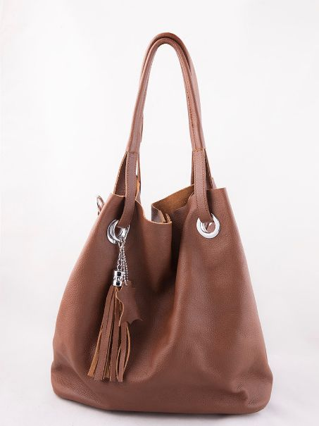 A brown penny bucket by Clique, available on RedPolka. You can store all you need and yet use it up with tassels. Find more handpicked designer bag online @ RedPolka.