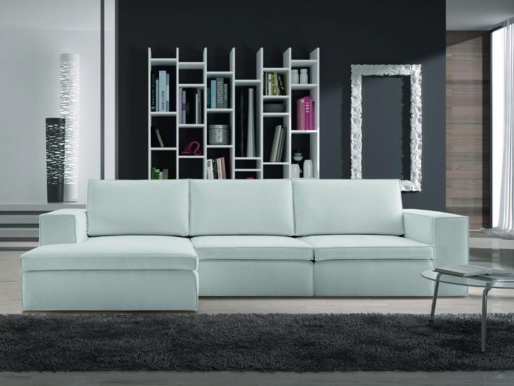 Il bellissimo divano Slide by Samoa. #white #bianco #divani #furniture #pelle #leather #arredamento #design #love #home