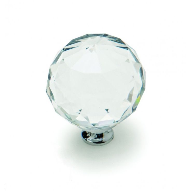 Crystal Knob - Crystal and Brushed Satin Nickel - 40mm GELMAR R35.99