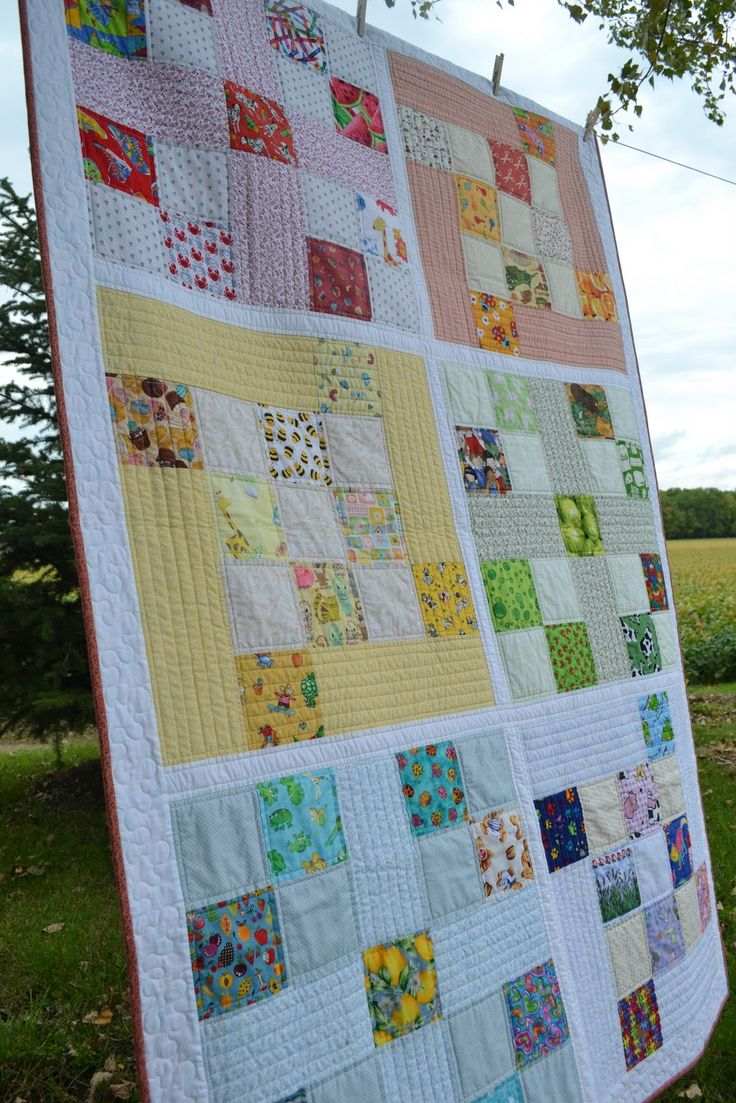 "How about a modern I Spy quilt?                This pattern uses a total of  51- 5"" I Spy squares in the following colors:          ..."