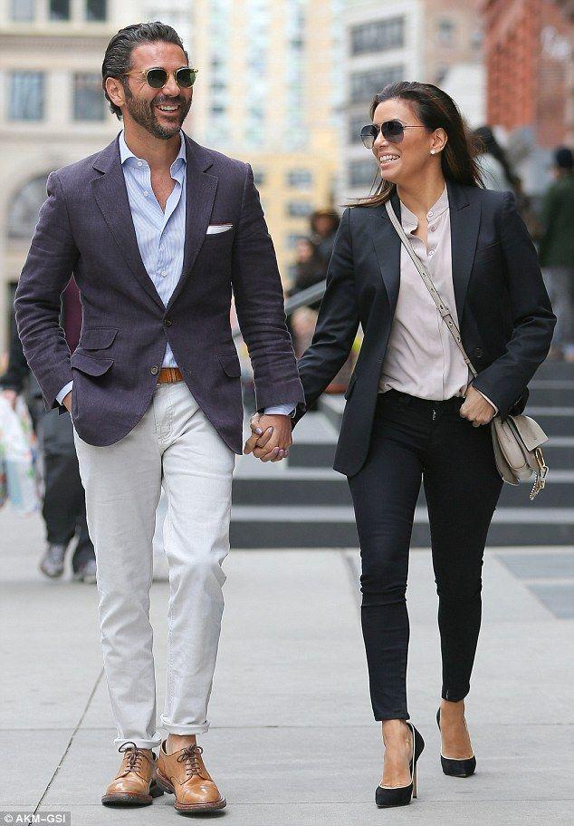 Eva Longoria and Jose Antonio Baston get playful with PDA in NYC #dailymail