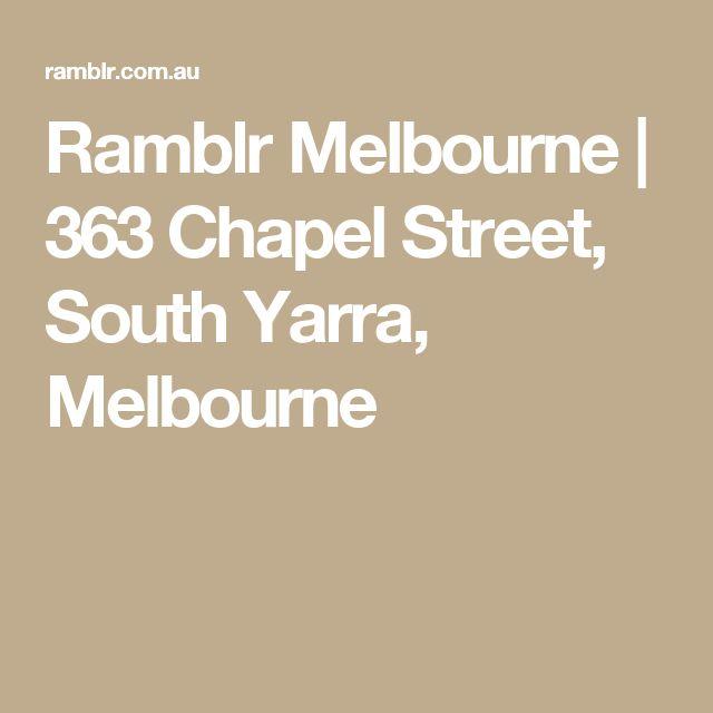 Ramblr Melbourne | 363 Chapel Street, South Yarra, Melbourne