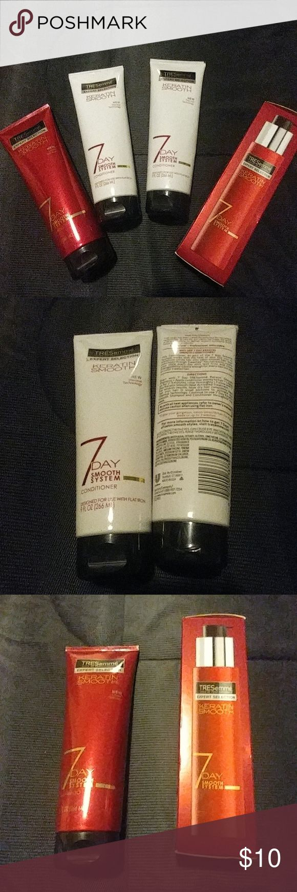 Tresemme Hair Products Tresemme Keratin Smooth Conditoner, shampoo and heat activated treatment. Productions were never used but was opened to smell. Ask any questions. Tresemme Other
