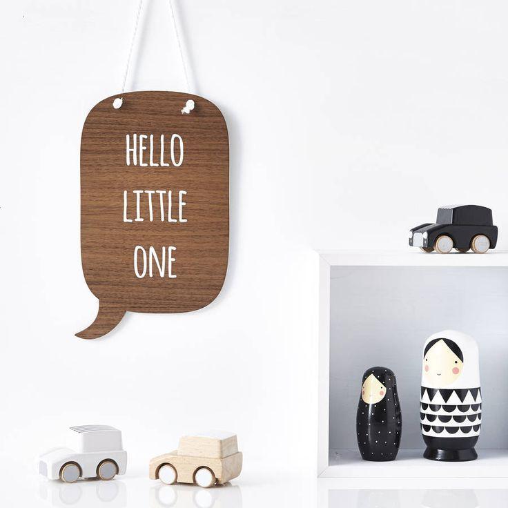 Speech Bubble Personalised Nursery Wall Art