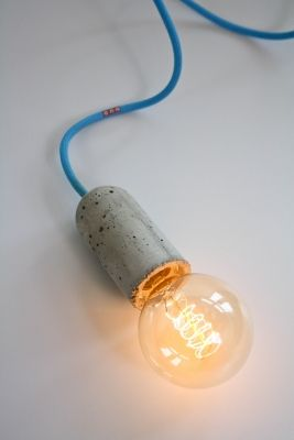 NUD Collection  douille Beton, lampe nue, cordon au choix