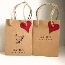 hen party bags - love how understated these ones are
