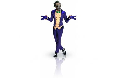 Ce costume du Joker pour adulte est composé d'une veste avec gilet et nœud papillon, d'un pantalon, de gants et d'un masque (chaussures non incluses).  Incarnez l'ennemi juré de Batman !