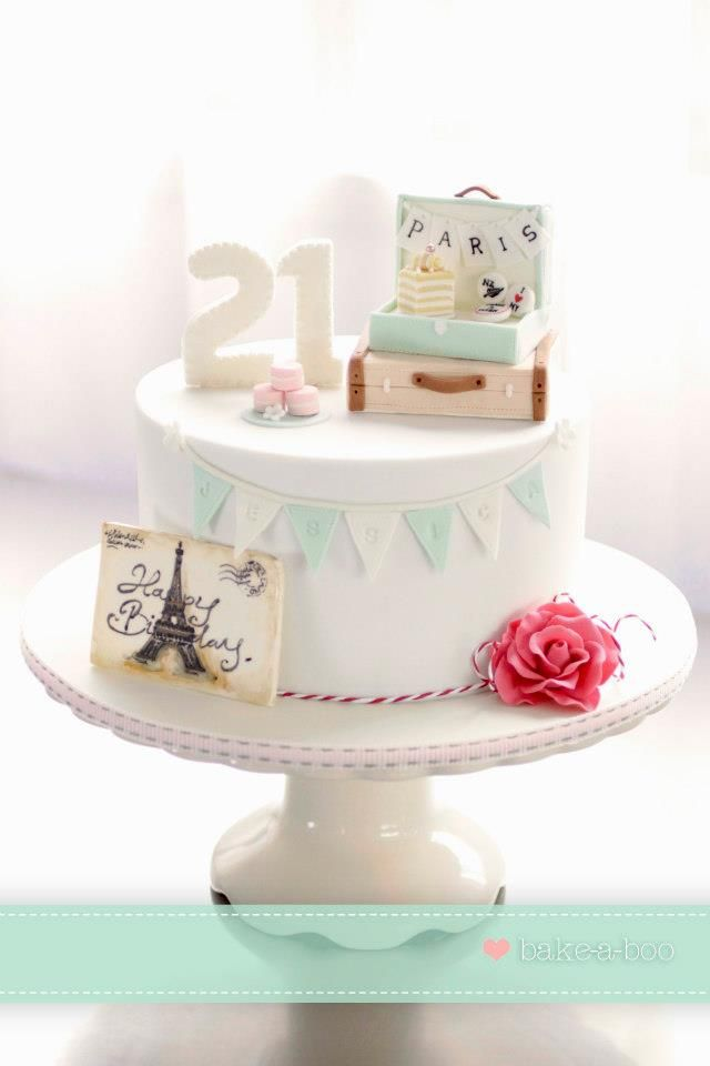 I absolutely love Bakea-boo's cakes, but this Paris birthday cake is so wonderful !