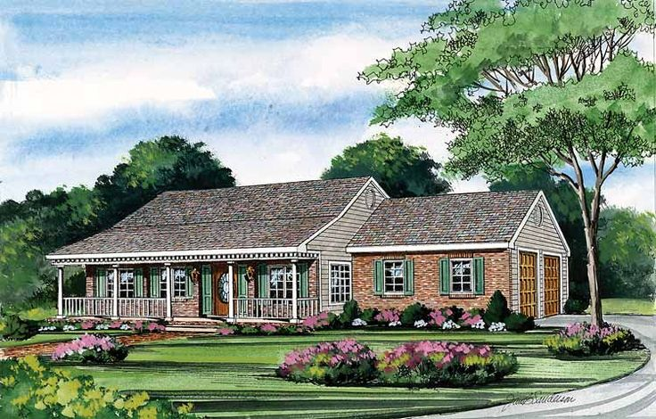 one story house plans with porches