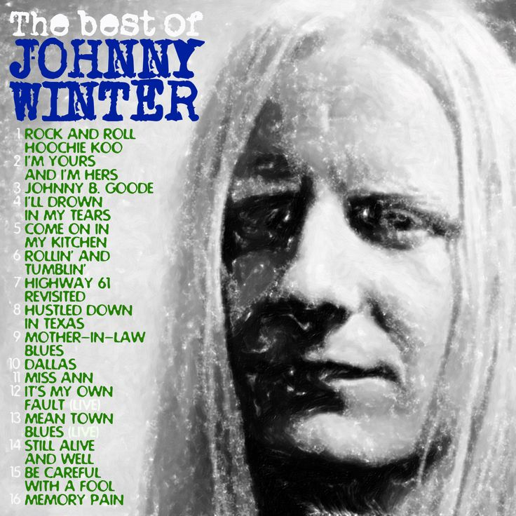 JOHNNY WINTER - The best CD COVER