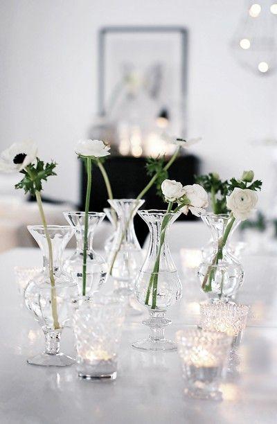White anemones. By - http://houseofphilia.blogspot.com/
