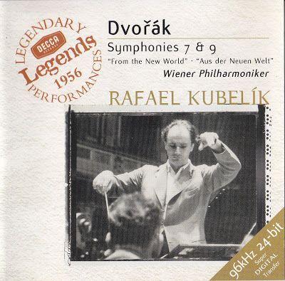Dvorak. Sinfonías nº 7 y nº 9. Rafael Kubelik. Orquesta Filarmónica de Viena. 1956. ¡Felicidades Maestro Dvořák!