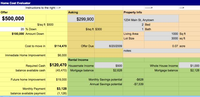 House Moving Calculator Free Template From Google Drive