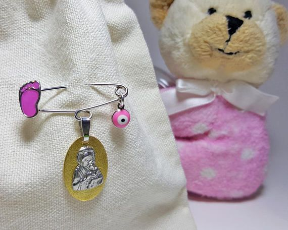 Brooch Baby Girl,Christening Gifts from Godmother, from Godparents, Baby Girl Baptism Gift, Christening Gifts for Girls, Newborn Girl Gift
