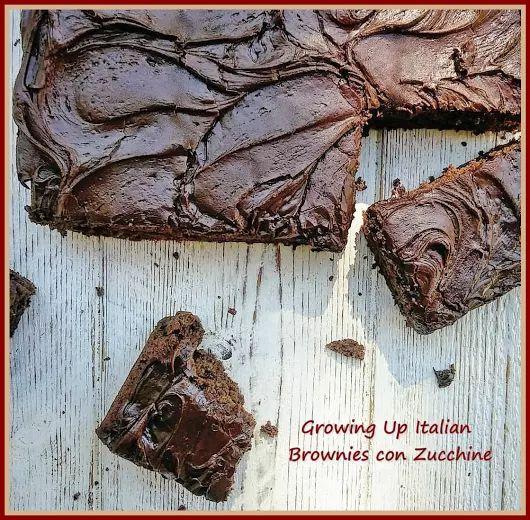 Brownies con Zucchine, ottimi e facili da preparare.