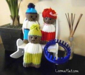 Loom Knit - Comfort-Dolls done on 24 peg round loom. Posted on Loom A Hat.
