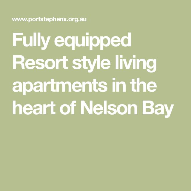 Fully equipped Resort style living apartments in the heart of Nelson Bay