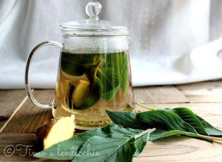 Mal di stomaco? Problemi digestivi? Provate la tisana alla salvia ananas e zenzero.
